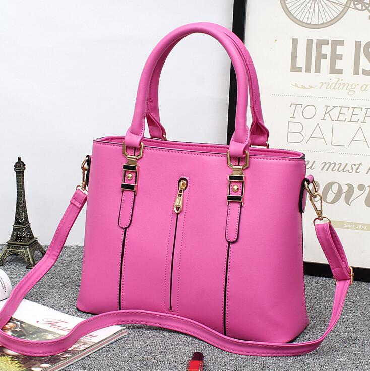 Female bag 2017 ms new bag zipper fashion female bag worn one shoulder bag The large capacity women handbags <br>