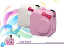 CAIUL Fujifilm Instax Mini 7s Camera Case Cover PU Leather Camera Protect Bag Pink White Instax Shoulder Bag(China)
