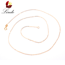 Pure 18K Gold Chain For Women Fashion Classic Top Quality Genuine Yellow Gold Necklace Chain 40cm/45cm Lindo