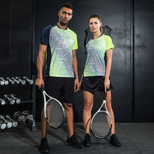 2017 New Men/Women Badminton Jersey Shirt Quick Dry Sportswear Table Tennis t shirt Tennis Shirts + Shorts Tennis skorts clothes