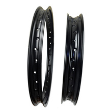 6061 Front + Rear Motorcycle Rims Aviation Aluminum Wheel Circle 2.15x19 & 1.60x21 36 Spoke Hole High Strength Black Rim