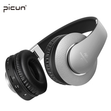 Picun P1 Wireless Bluetooth Headphones Stereo Headsets earbuds with Mic Support TF Card FM Radio for MP3 iPhone Samsung Xiaomi