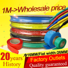 1m 16MM Heat Shrink Tube Tubing Wrap Heatshrink shrinkable tube Cable Sleeve Wire Kit  Pls use Heat Gun to Shrink