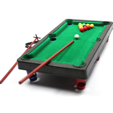 1Set New children's play sports balls Sports Toys Funny Flocking desktop simulation billiards Novelty Mini billiards table sets