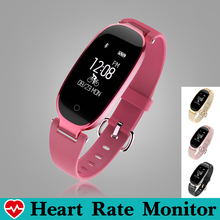 Swim Fashion Women Smart Bracelet Band Wristband Heart Rate Monitor Fitness Bracelet Tracker Music Control Pedometer Smartband