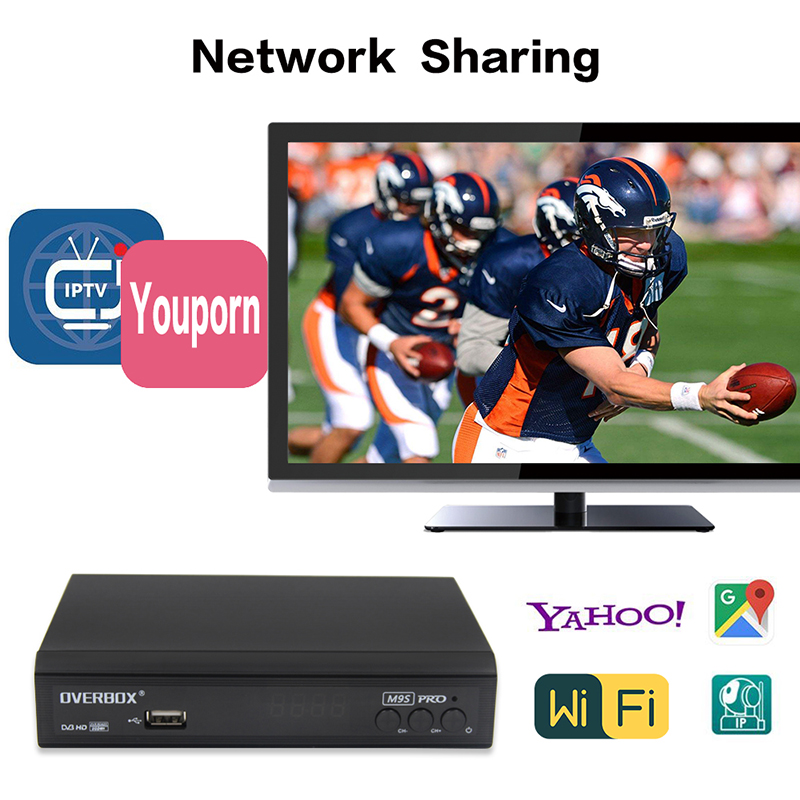 Freesat v8 open box DVB-S2 Full HD 1080P mini satellite receiver OVERBOX M9S PRO open box hd tv receptor support IPTV Biss Key