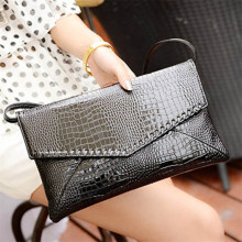 hot sale Fashion Small Crocodile Envelope Women Messenger Bags Soft PU Leather Bag Women Clutches Bolsas Femininas big discount