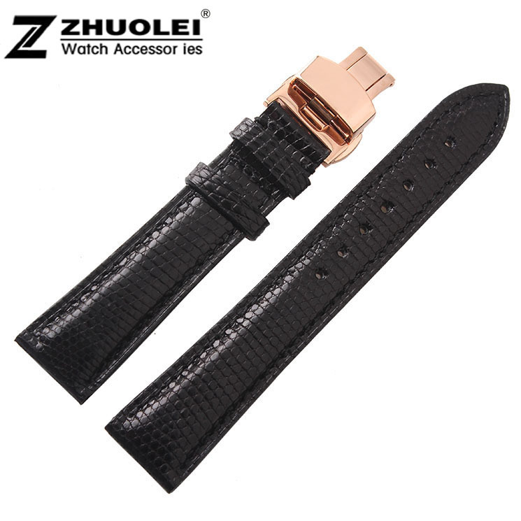 Watch Accessories 18mm 19mm 20mm 22mm New High Men Black Brown Genuine Leather Watchbands Strap<br>