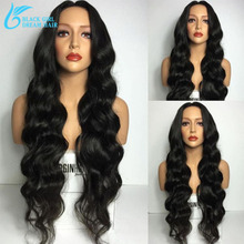 Glueless Full Lace Human Hair Wigs For Black Women, Brazilian Virgin Hair Body Wave Glueless Lace Front Human Hair Wigs