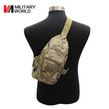 Military World Tactical Men Camo Single Shoulder Messenger Bag Outdoor Sport Hiking Travel Chest Back Pack Crossbody Bag Pouch