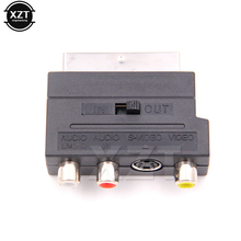 Hot salling 1pcs Brand New Hot Selling RGB Scart to Composite RCA S-Video AV TV Audio Adapter(China)