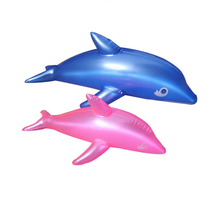 2PCS 50CM Friendly PVC Dolphin Design Inflatable Toys Children Animals Shaped Balloons Inflatable Dolphin Cartoon Animals
