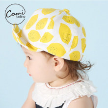 Baby Cotton Hat Kids Lemon Pattern Baseball Cap Newborn Infant Boys Girls Beanies Children Soft Cotton Caps Infant  Sun Hat