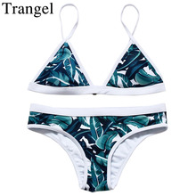 Trangel 2017 New Brazilian Style Bikinis Sexy Tree Leaf Pattern Low Waist Swimwear Padded Soft Beach Summer Swimsuit EG898(China)