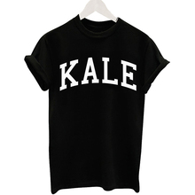 Buy New 2016 Fashion Summer T Shirt Women loose White Black Shirt Female Short Sleeve KALE Letter Printed Tee Shirt Lady tops for $5.87 in AliExpress store
