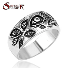 steel soldier new products stainless steel fashion evil skull eye ring men and women party ,gift jewelry