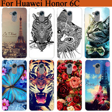 For Huawei Honor 6C Case Cover Tiger Owl Cat Pattern Soft Tpu Case For Huawei Nova Smart Enjoy 6S Honor 6C Protective Phone Bags