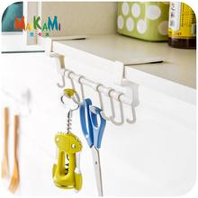 MAIKAMI 1Pc Door Towel Holder Rack Rail Cupboard Hanger Bar Hook Bathroom Kitchen Top Home Organization