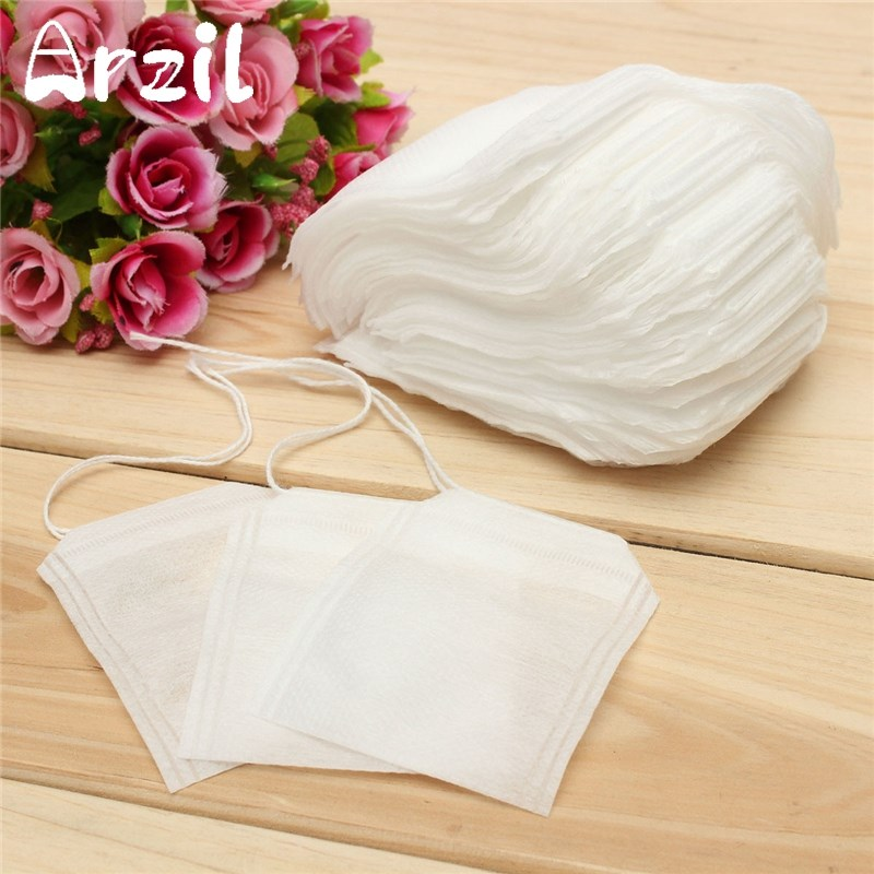 Tea Bags 100Pcs/lot 6*8cm Corn Fiber Biodegraded Tea Filters Infusers Quadrangle Pyramid Heat Sealing Filter Bags Drinkware(China)