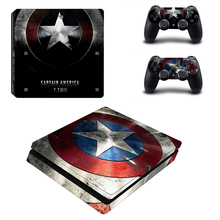 Protective Decor Skin Sticker For Sony Playstation 4 PS4 Slim Console Skins And 2 Controller Decal Stickers Accessories