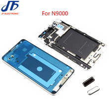 50pcs/lot Front Housing Middle Frame Bezel Plate For Samsung Galaxy Note 3 3G N900 N9000 Genuine LCD Frame Home Button,(Silver)(China)