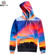 Mountain Sky 3D Hoodie Hoodies Men Women Long Sleeve Autumn Winter Outwear Jackets Casual Pullover Hoody Hooded Sweatshirt(China)