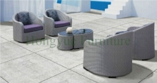 Outdoor sofa hot sale PE rattan sofa set and iron frame garden furniture(China)