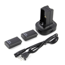1pcs Charging Station Charger Dock+2X 4800mAh Rechargeable Battery For Xbox 360 Hot Worldwide Digital