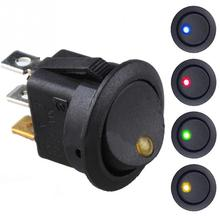 12V LEDKCD1-101EN Cat Eye Car Modified Switchpush button switch Car button lights ON/OFF Round LED Rocker Switch Dash Boat