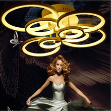 Special ! ! Personality living room ceiling lamp,creative fashion led ceiling lamp , luck ring series, 8 heads(China)