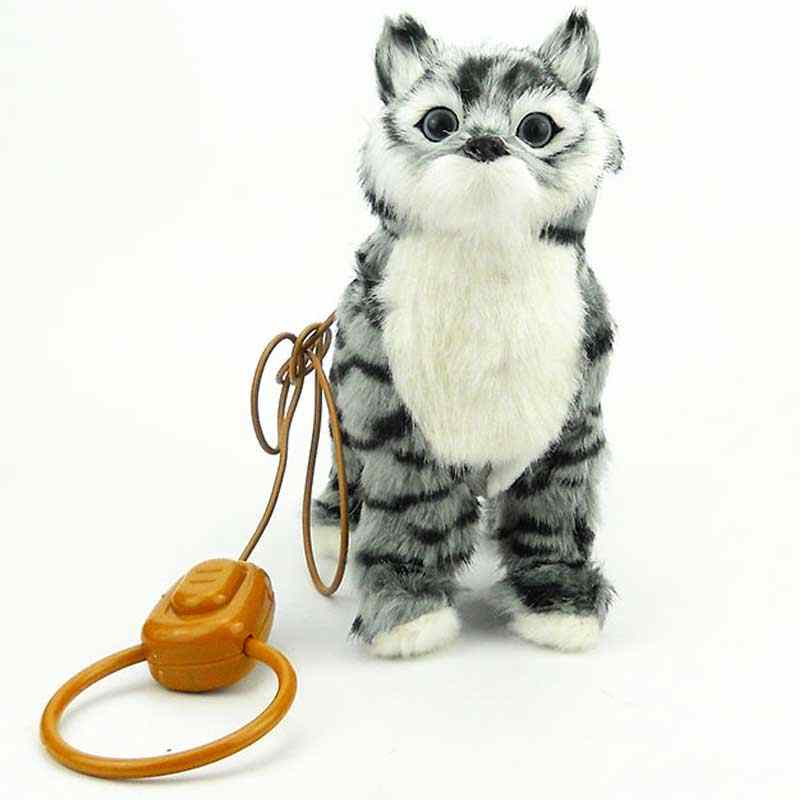 Robot Cat Toy >> Detail Feedback Questions About Robot Cat Electronic Cat Toy