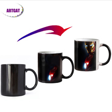 11OZ New design Movie color changing magic mugs Heat Sensitive Ceramic coffee tea mug best gift for friends