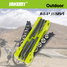 JAKEMY 17 in 1 Outdoor Folding Tool Set Bicycle Auto Car Mechanic Repair Screwdriver Sockets Tool Kit Camping Emergency Tool Set(China)