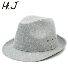 4Size 57 58 59 60CM High Quality Cotton Men Homburg Fedora hat For Gentleman Dad Travel Church Panama Gangster Sun Hat