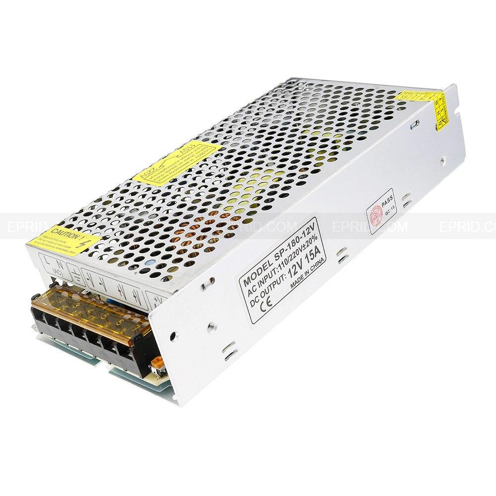 AC 110V/220V to DC 12V 15A 180W Voltage Transformer Switch Power Supply for Led Strip<br>