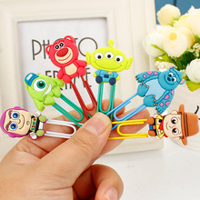 12 pcs/lot Korean stationery cute Monster bookmarks for books Cartoon 3D PVC paper clips kids gift canetas school supplies