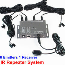 BD108 8 Emitter 1 Receiver 1 adapter IR Infrared Remote TV AV Video Home Application Extender Hidden IR Repeater System Kit(China)