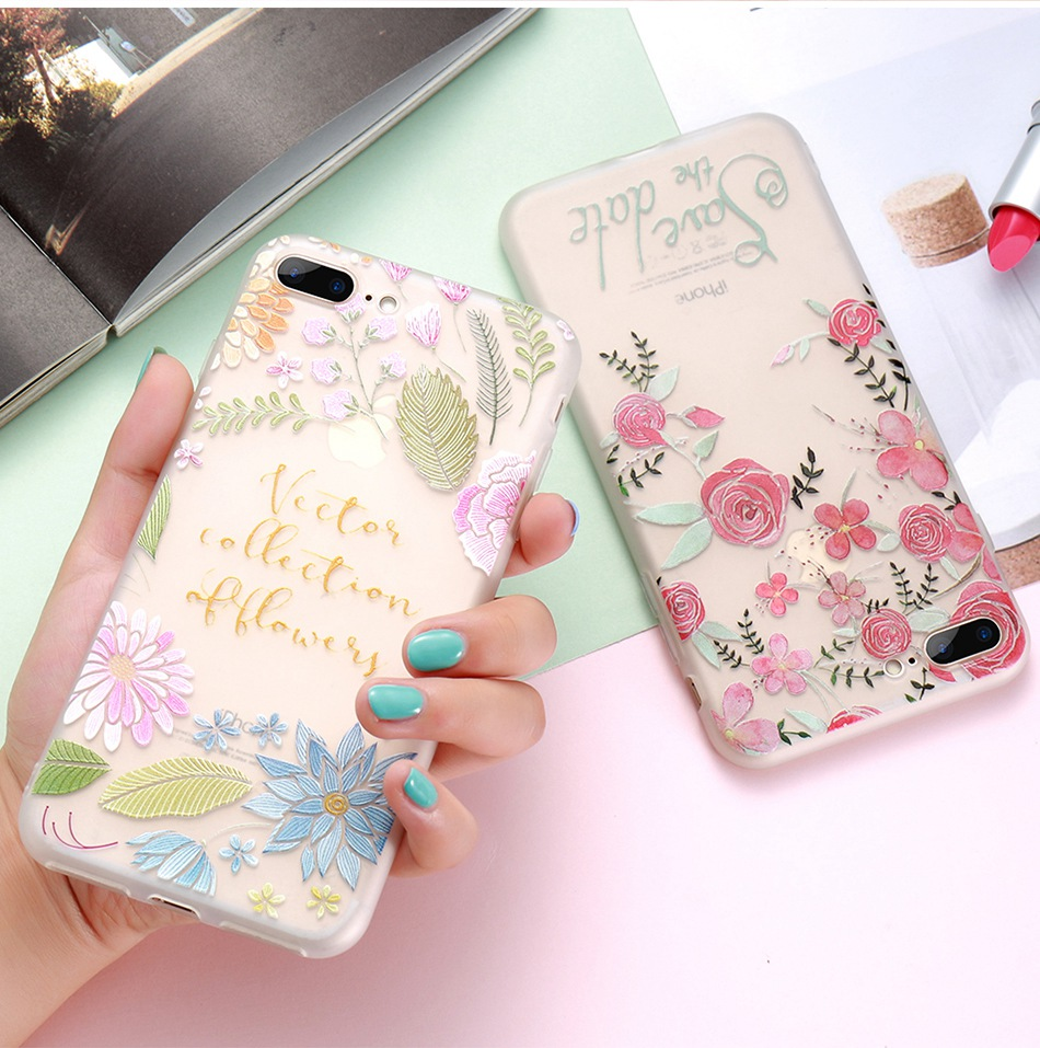 For iPhone 6 6S iPhone 7 Plus Soft TPU Silicon Phone Cover (9)