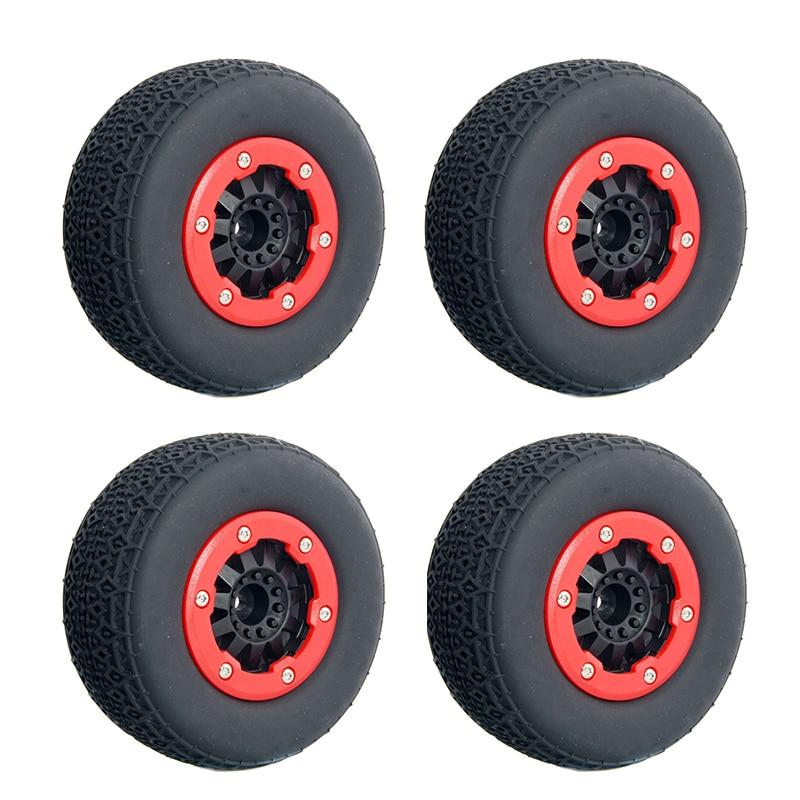 4PCS 1:10 RC Short-Course Truck Wheel Rim and Tires for 1/10 Traxxas Slash HPI HoBao RC Racing Short Course Car<br><br>Aliexpress