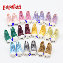 1pair 3.5cm Fashion Plastic Doll Shoes for Blythe BJD Dolls, Ball Joints Doll Accessory Shoes(China)