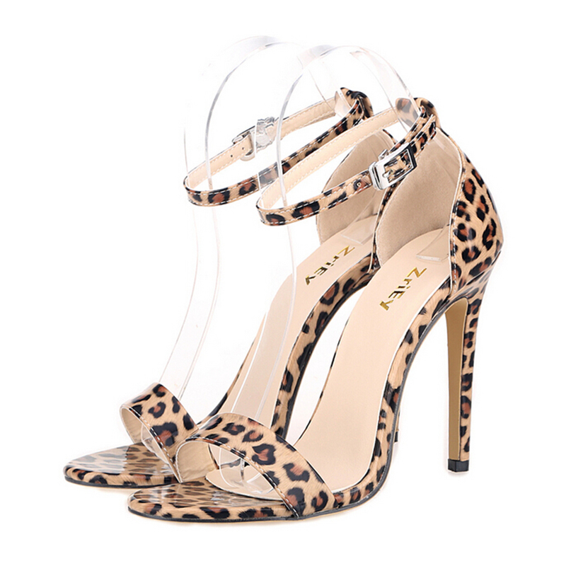 2017  high heels fashion leopard women shoes  mouth clasp sandals large size shoes custom wedding shoes sapato feminino s264<br><br>Aliexpress