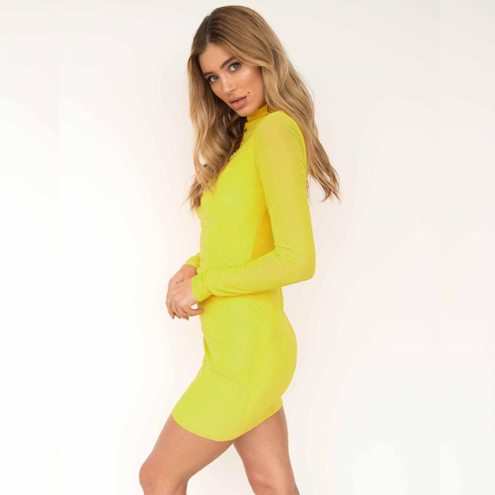 Swaggy HTB1Wc07cBfH8KJjy1Xbq6zLdXXa3 Langärmliges Slim Kleid