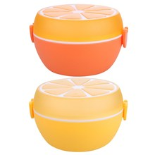 Round Lunch Bowl Cutlery Plastic Lunch Box Bento Storage Kids Bowl Food Container Plate Sn Dinnerware Sets Orange Yellow