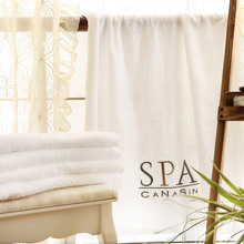 Luxury Hotel & Spa Bath Towel 140X80CM Weight 570G 100% Genuine Turkish Cotton White Color(China)