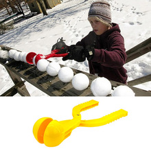 New Grenade Shaped Kids Snowball Clip Winter Snow Scoop Maker Clip Sand Mold Tool Outdoor Activity Toy Random Color