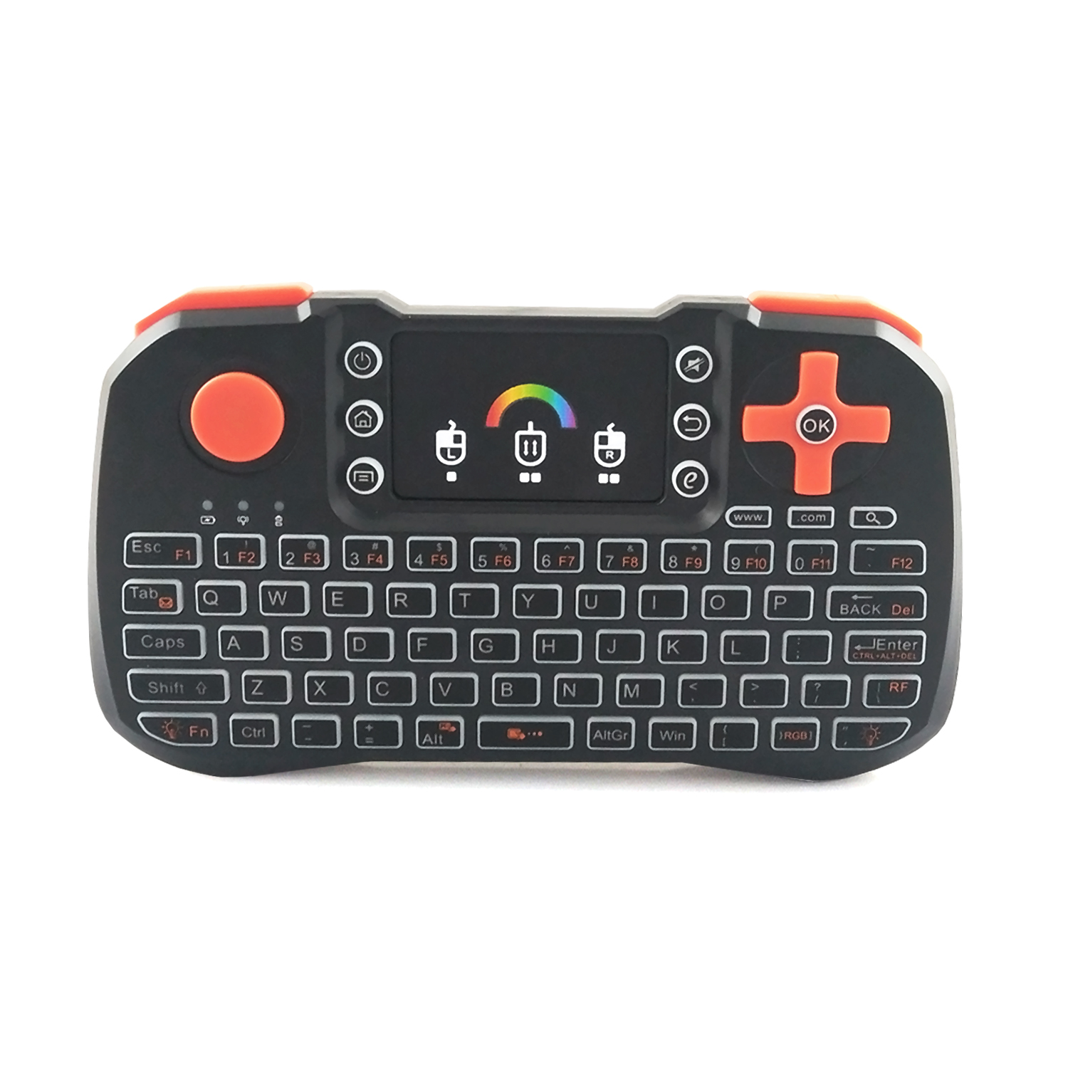 Remote Control Backlit Touchpad Wireless Keyboard For PC Laptop Android TV Box