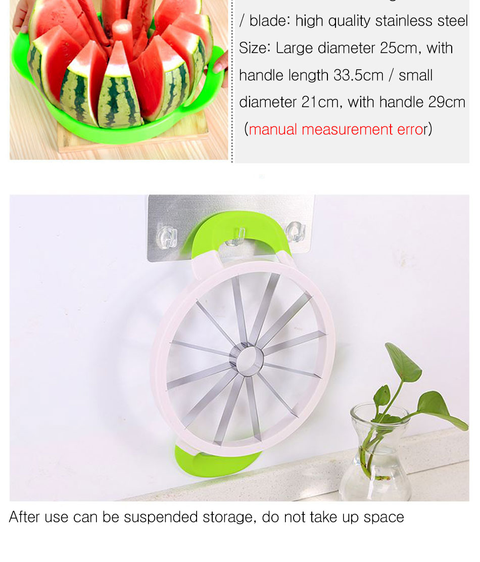 Watermelon Artifact Cut Fruit Split Function Cut Watermelon Melon Slice Cutter Convenient Kitchen Cooking Cutting Tools Cutter (11)