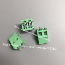 20pcs/lot  PCB Screw Terminal Block Connector KF128-2P pitch:5.0MM/0.2inch Green 5mm KF128 2Pins