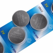 30PCS/lot=6packs CR2025 CR 2025 DL2025 BR 2025 3V Lithium Button cell Lithium coin Battery for watch toy,XINLU brand battery