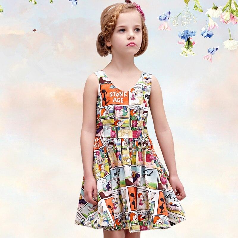 Cotton  Girl Dress Kids 2017 Summer New Embroidered Children Clothes  Princess Korean Cute Dress 10<br>